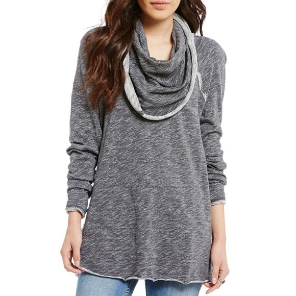 Free People Tops - Free People Beach Cocoon Cow Neck Pullover
